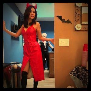 Devil's mistress hot red leather set